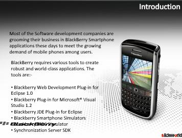 Blackberry Application Development, Offshore Blackberry Software Development, Blackberry Outsourcing Company India