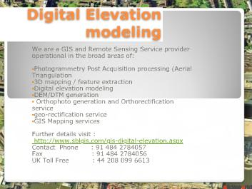 Digital elevation modeling