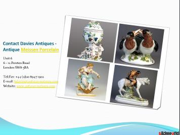 Meissen China, antique meissen porcelain - Davies Antiques