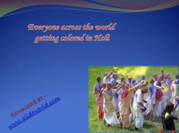 Holi Powerpoint (PPT) Presentation 