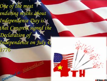 American Independence Day PPT(Powerpoint) Presentation on Fourth of July