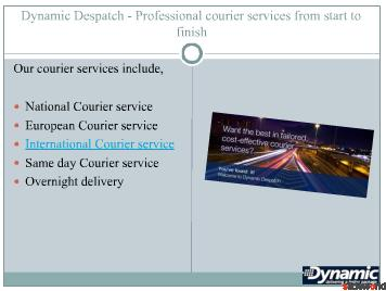Couriers in Yorkshire, Courier service Huddersfield from Dynamic Despatch