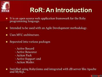 RubyonRails (RoR)