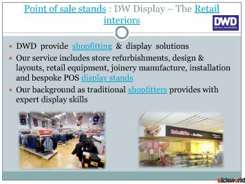 Display stands from DWD - Shopfitters UK