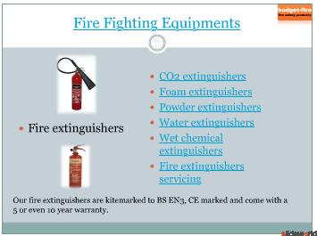 Fire extinguishers and Smoke detectors from Budget-Fire UK