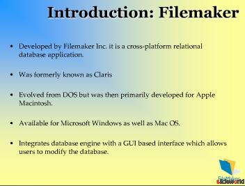 Filemaker Development