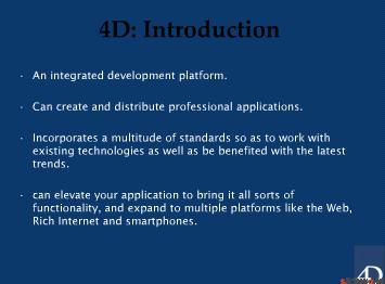4D Database Development