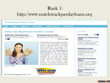 Top 5 sites of no teletrack payday loan