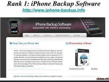 Backup iPhone