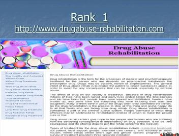Top 5 Drug abuse rehabilitation sites