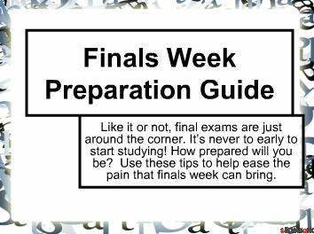 Tips fir Final exams ..