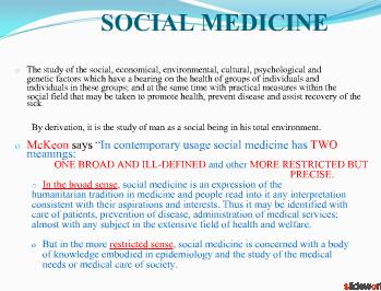 scope of community medicine