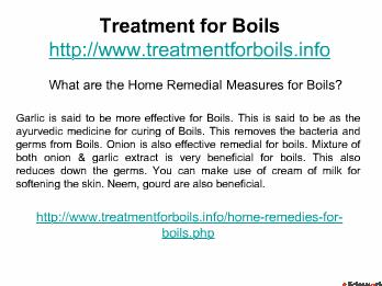 Treatment for Boils with Boilx