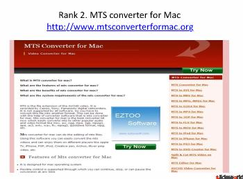 Top 5 sites of MTS converter