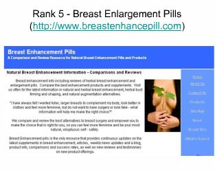 Top Five Breast Enhancement Pills