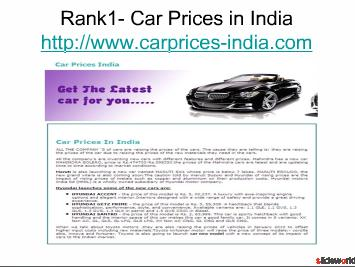 Top Five sites of Car Prices