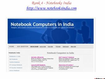 Top Five Sites of Notebooks