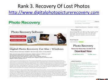 Top 5 sites of memory card recovery