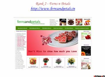 Top Five Sites of Ferns and Petals