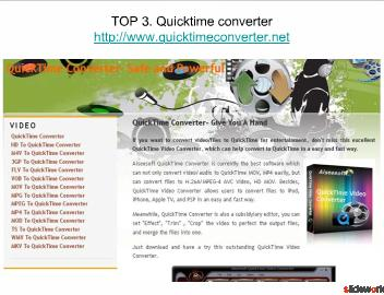 Top 5 sites for the quicktime converter