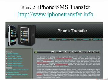 Top Five iPhone SMS Transfer websites