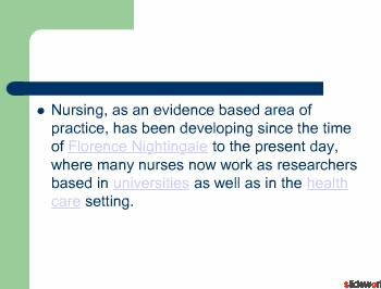 Relationship to Nursing Theory, Research and Practice