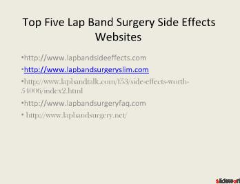 Top 5 sites of Lap band side effects  infection