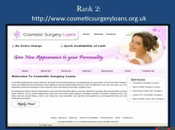 Top 5 sites of bad credit plastic surgery loans