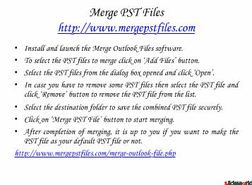 Merge PST Files