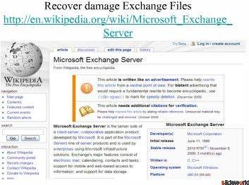 Top Five Websites Exchange server recovery