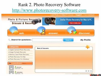 Top Five Photo Recovery Software Websites
