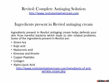revitol antiaging cream