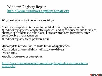 windows registry repair