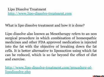 lipo dissolve treatment