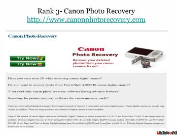 Top 5 sites of Photo Recovery