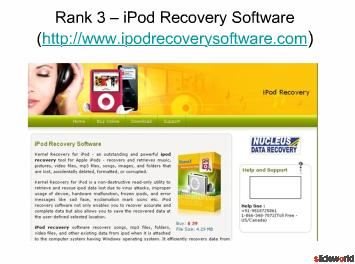 Top Five iPod Recovery Software
