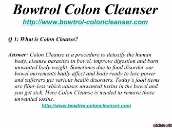 Top Five Colon Cleanser Products