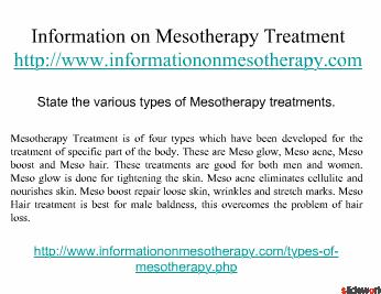 Mesotherapy for Weight Loss