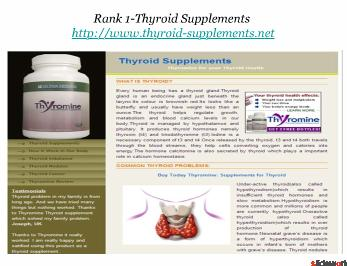 Top 5 Thyroid Supplement Sites