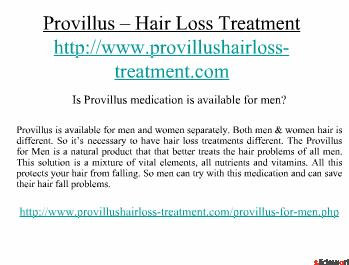 Hair Loss Treatment with Provillus