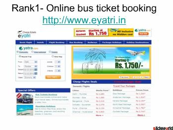 Top Five sites of Online Bus Ticket