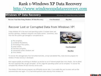 Top 5 Windows Data Recovery XP Software Sites