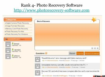 Top 5 Picture Recovery Websites