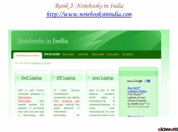 Top five sites of Notebook