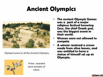 Beijing Olympics Powerpoint(PPT)  Ancient Olympics PPT