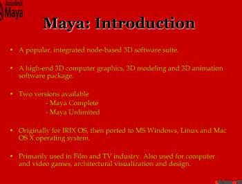 Maya/XSI/3ds Max Plug-in Development