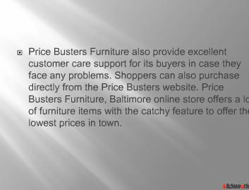 Price Busters Furniture, Baltimore