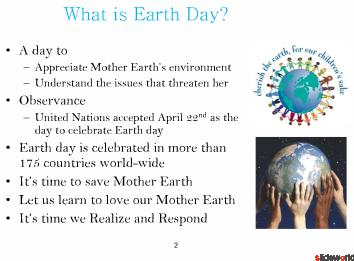 Earth Day Powerpoint(PPT)  Global Warming PPT