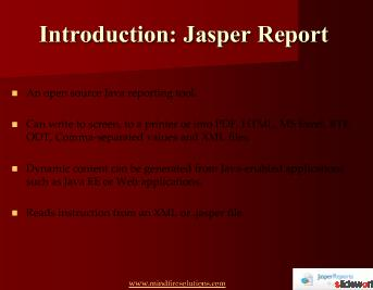 Jasper Reports Development