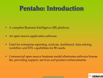 Pentaho Development